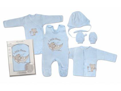 Mamatti Novorozenecká sada do porodnice, modrá - Medvídek, vel. 62 (Velikost koj oblečení 62 (2-3m))