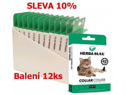 836592 herba max collar cat antiparazitni obojek 42 cm 12 ks sleva 10