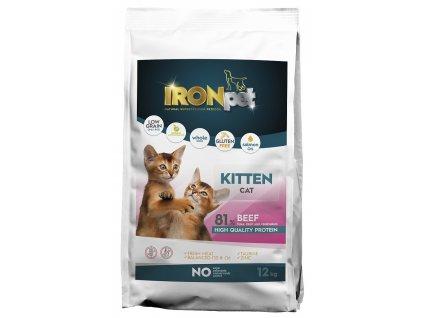 836664 ironpet cat kitten beef hovezi 12 kg