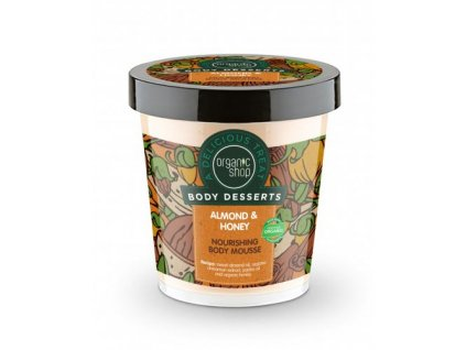 854568 organic shop vyzivujici telova pena mandle a med nourishing body mousse 450 ml