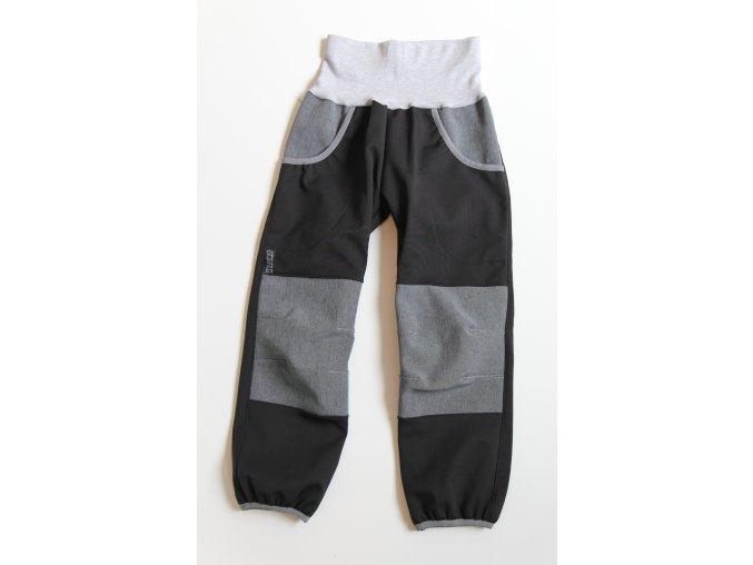 Kalhoty černá/šedá