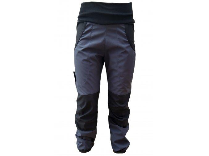 podzim/jaro kalhoty antracit/černá