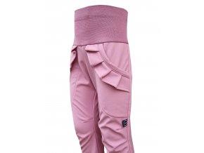 Kalhoty starorůžová s kanýrkem