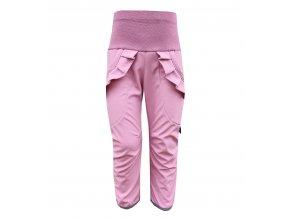 kalhoty starorůžová s kanýrkem na prknech