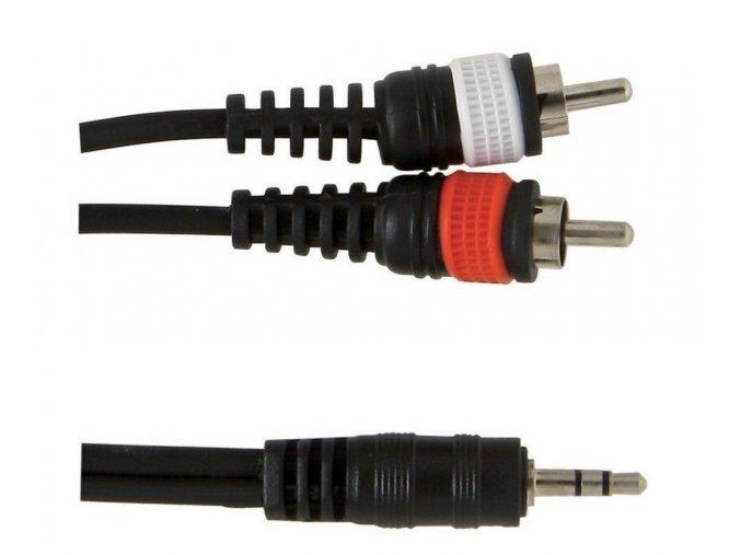 Kabel 1x 3,5 jack /2x cinch 1,5m