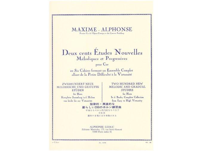 Maxime Alphonse 200 Etudes Nouvelles for Horn 1