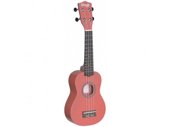 Stagg US LIPS, sopránové ukulele, růžové