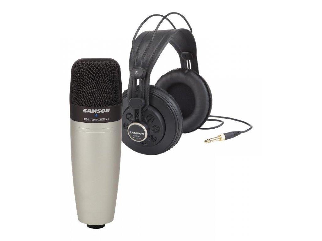 C01/SR850 - kondenzátorový mikrofon a studiová sluchátka