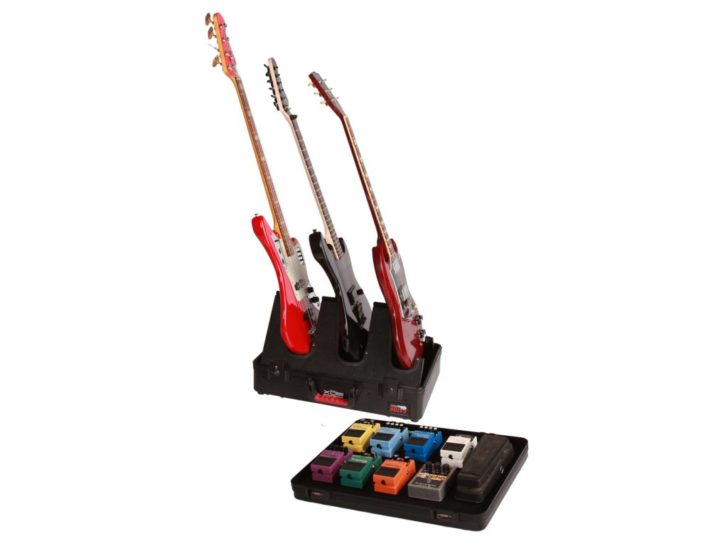 G-Gig Box JR - kompaktní stojan na 3 kytary a pedal board z polyetylenu
