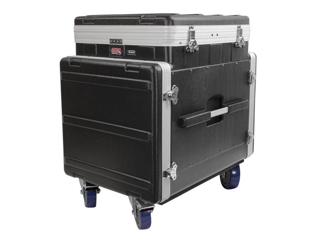 GRC-12X10 PU -  Rack z polyetylénu s výsuvným držákem na mix. Vrchní část 12U