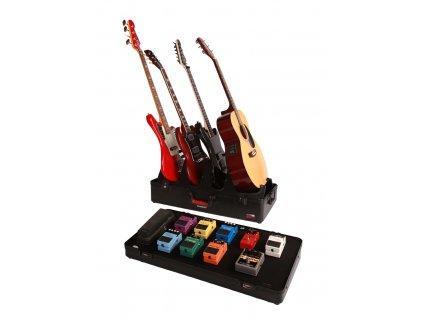 G-Gig-Box-TSA - profesionální stojan pro 4 kytary a pedal board kufr z polyetylenu s TSA zámky