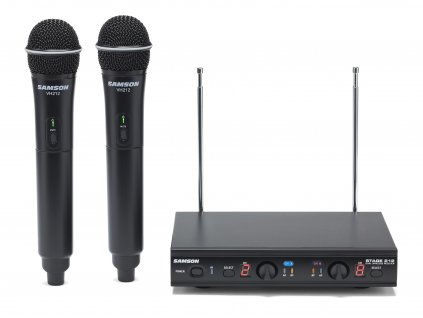 Samson Stage 212-dvoukanálový bezdrátový set s mikrofony doruky