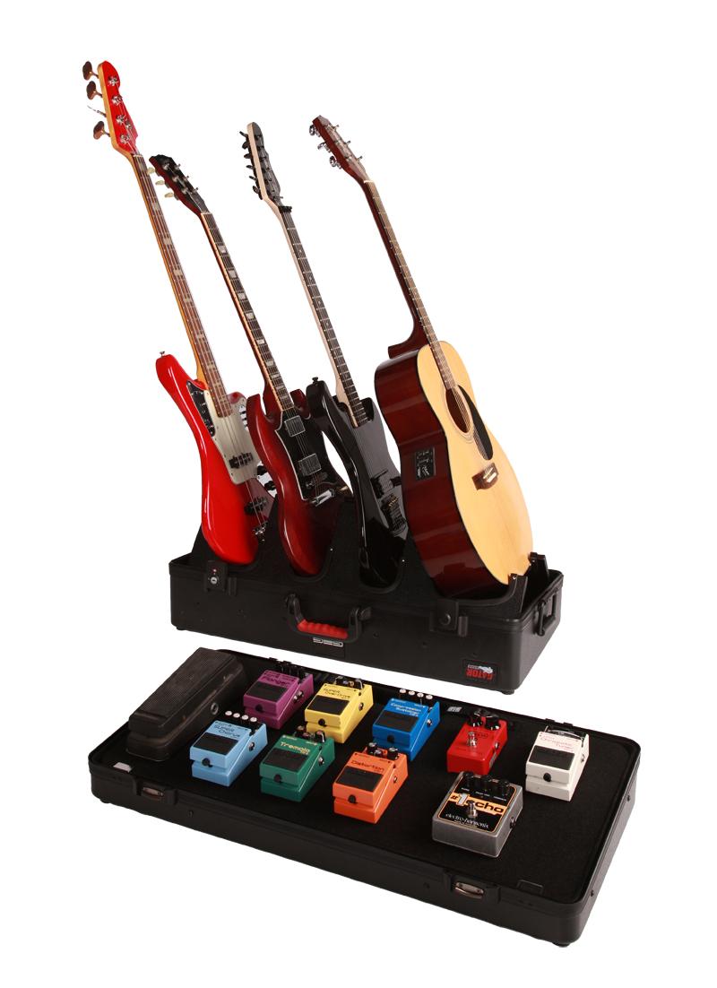 Gator G-Gig-Box-TSA - profesionální stojan pro 4 kytary a pedal board kufr z polyetylenu s TSA zámky