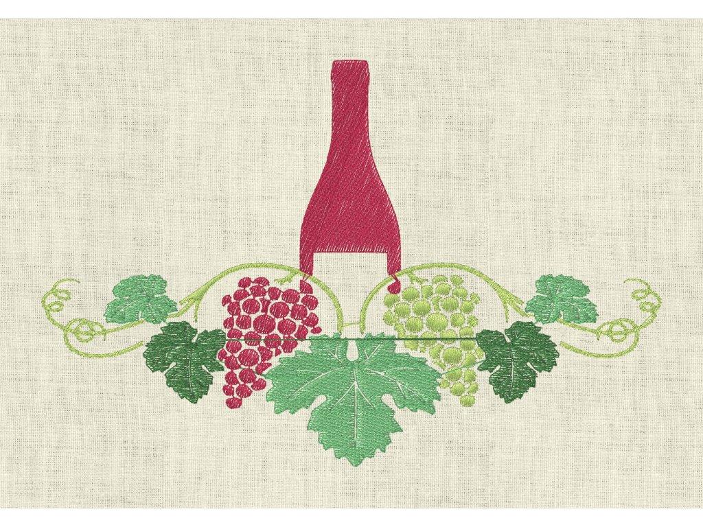 vino lahev cervene