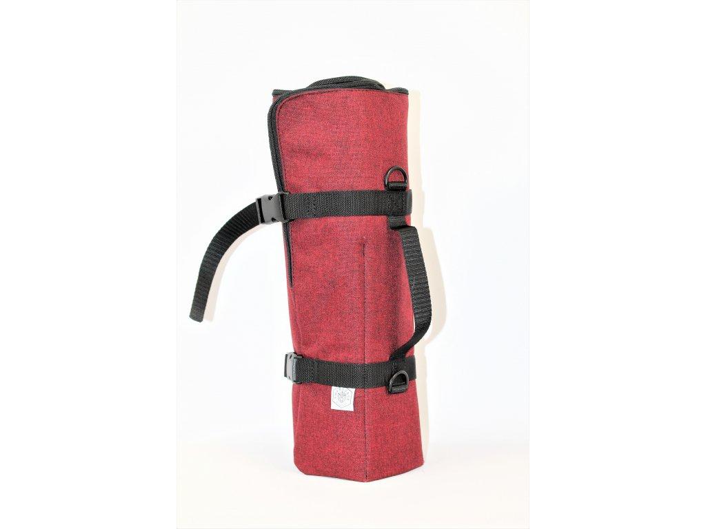MULTIFLAUTINO - Pořadač na 5 fléten, červená melír