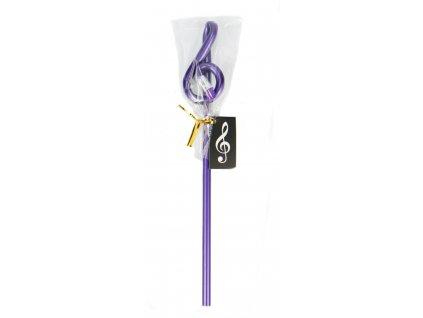 tužka houslový klíč fialová