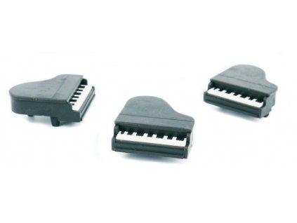 guma 3D černá klavír.