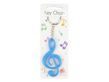 klíčenka housl. klič modra