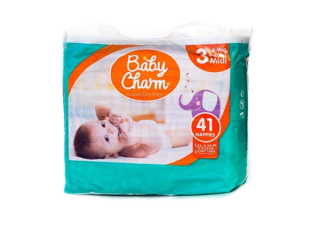 BABY CHARM SUPER DRY FLEX VEL.3 MIDI, 4-9 KG, 41 KS