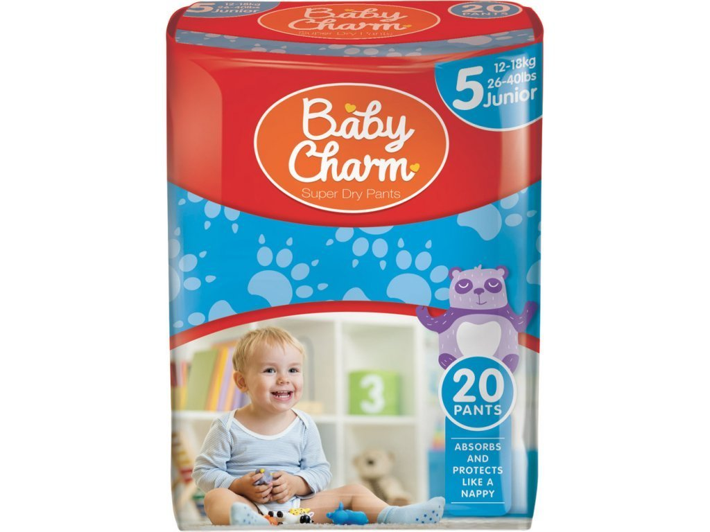 BABY CHARM SUPER DRY PANT VEL.5 (12-18 KG), 20 KS
