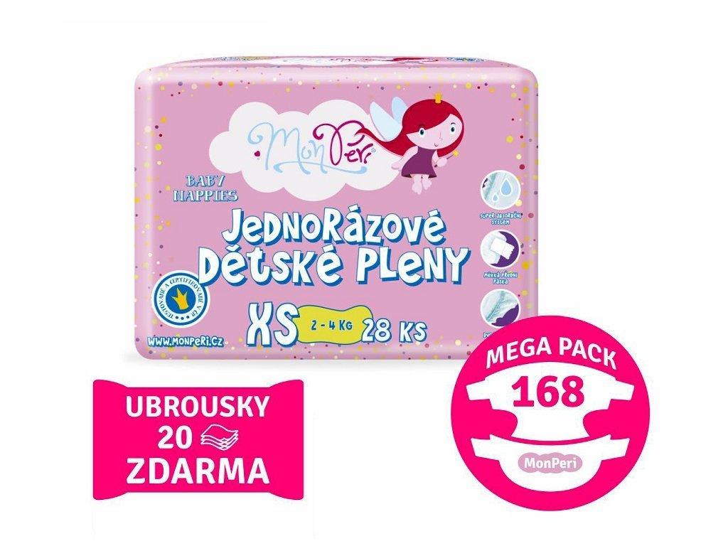 113 monperi klasik mega pack xs 2 4kg 168 ks eko jednorazove detske pleny velikost 1