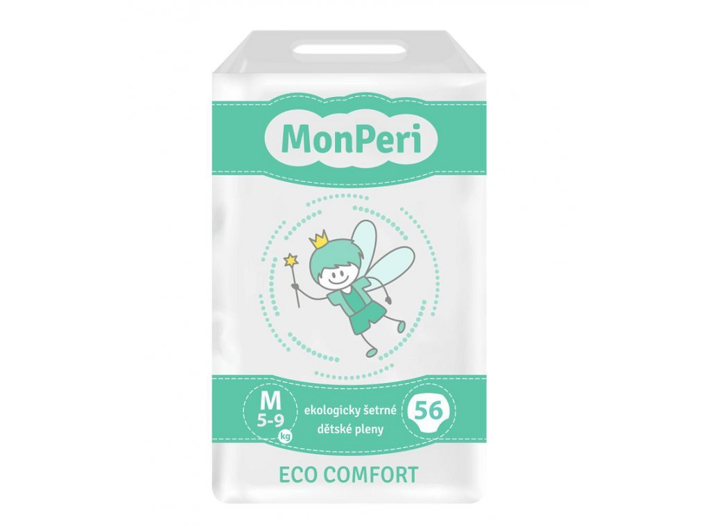 83 monperi eco comfort m 5 9 kg 56 ks eko jednorazove detske plenky velikost 3
