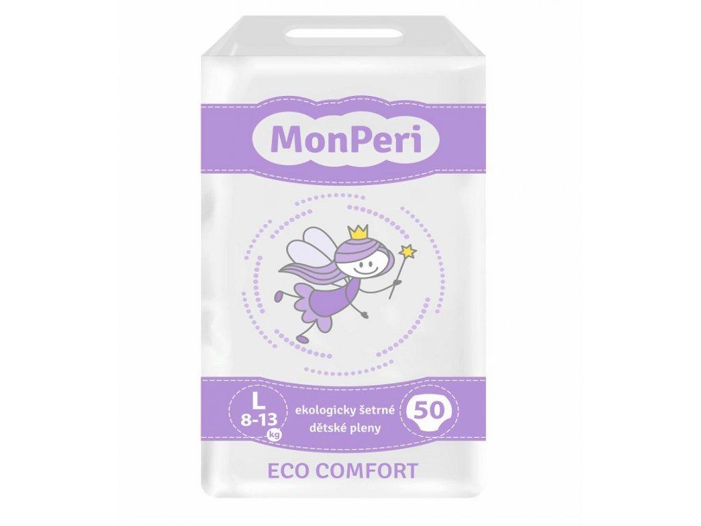 77 monperi eco comfort l 8 13 kg 50ks eko jednorazove detske plenky velikost 4