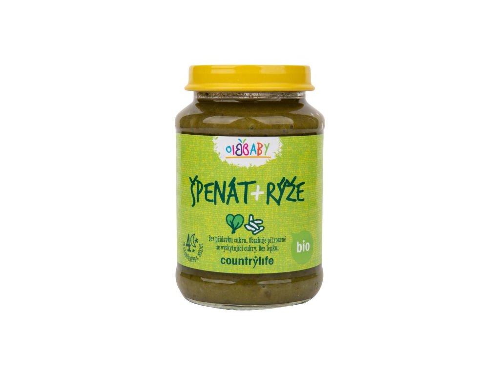 Příkrm špenát, rýže 190 g BIO COUNTRY LIFE