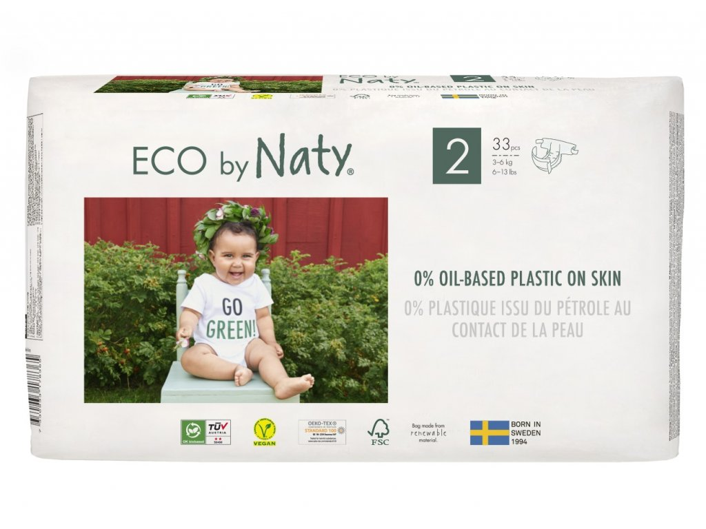 ECO by Naty Mini 3-6 kg dětské plenky 33 ks (vel. 2)