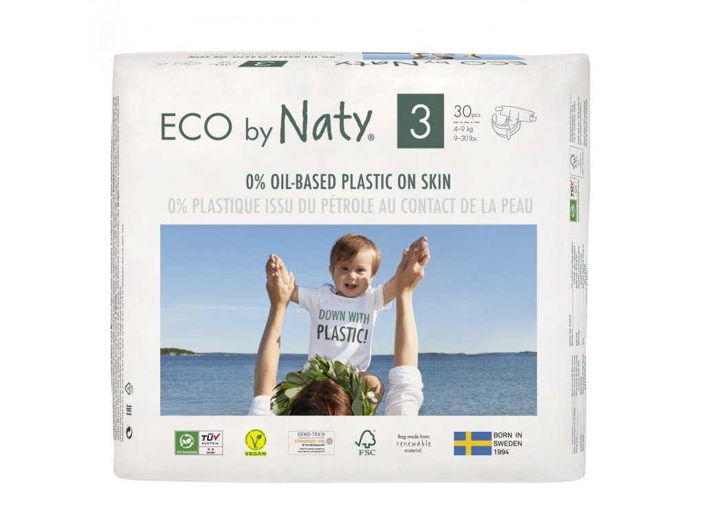 Plenky Eco by Naty Midi 4-9 kg 30 ks (vel.3)