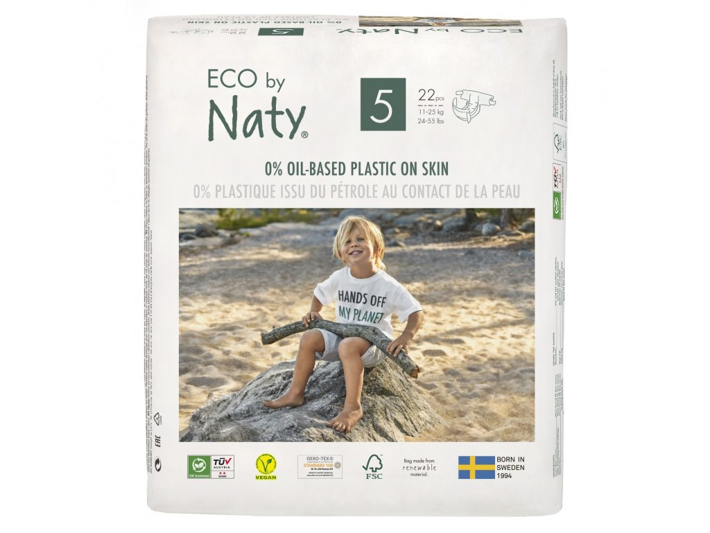 Plenky Eco by Naty Junior 11-25 kg 22 ks (vel.5)