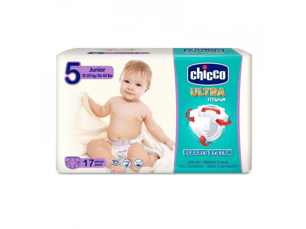 Jednorázové pleny Chicco Ultra Junior 12-25kg 17ks (vel.5)