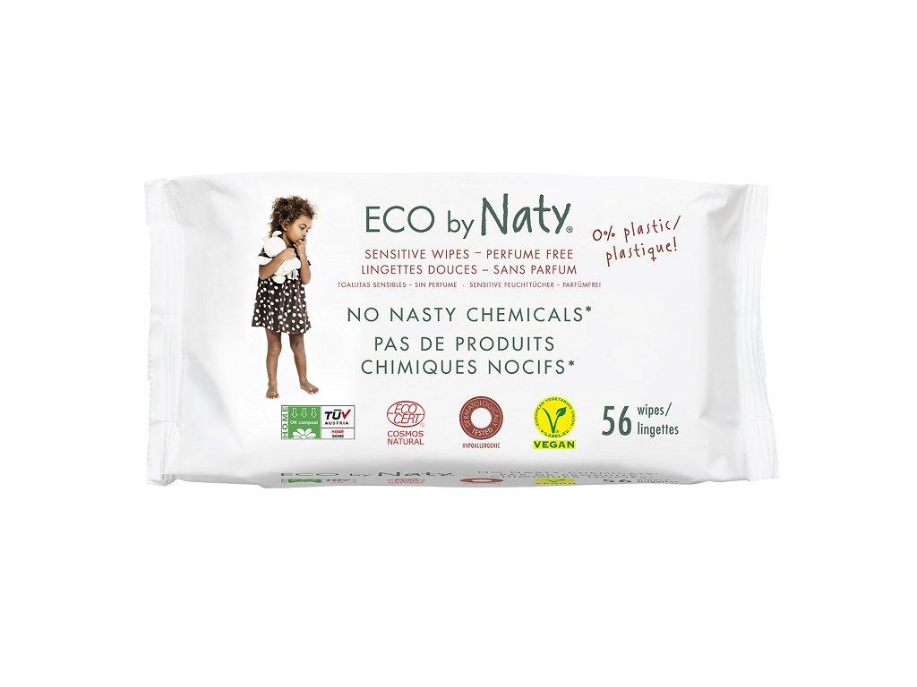 ECO vlhčené ubrousky Naty bez vůně - pro citlivou pokožku (56 ks)16