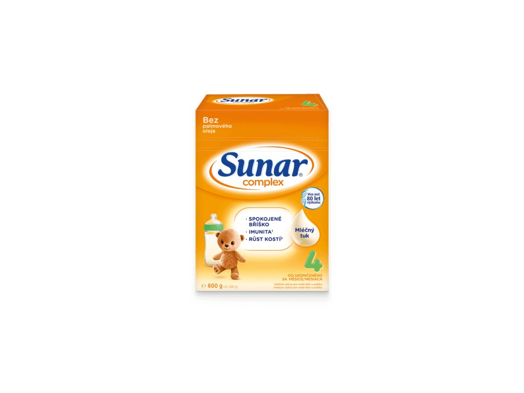 Sunar Complex 4 Batolecí kojenecké mléko 8x600 g