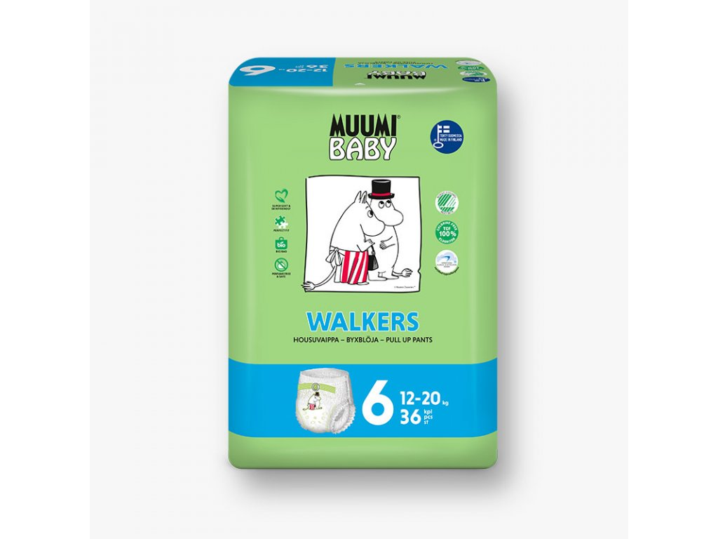 Muumi Baby jednorázové Walkers Junior 12-20 kg 36 ks