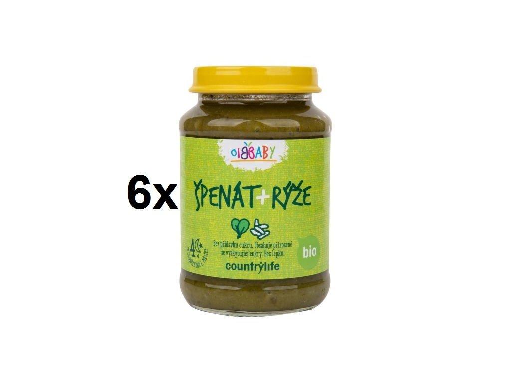Příkrm špenát, rýže 6x190 g BIO COUNTRY LIFE