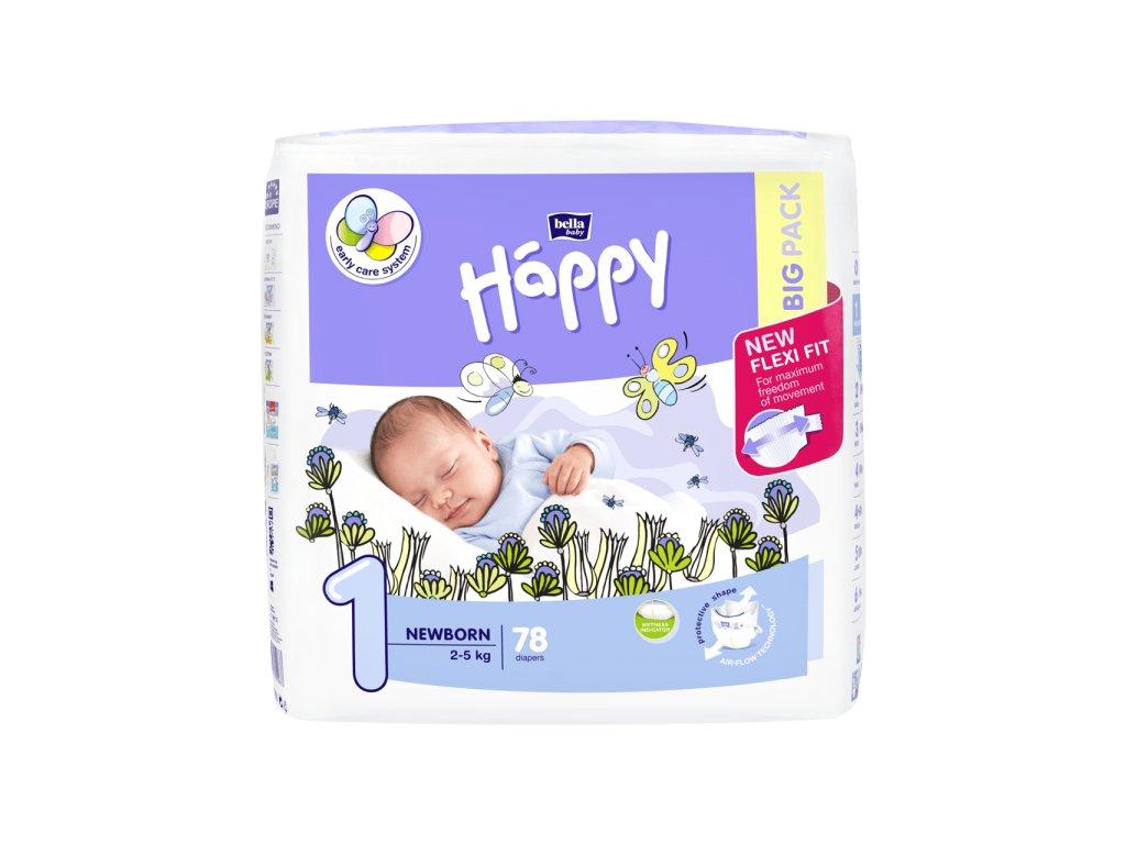 Plenky Bella Baby Happy newborn Big pack 2-5 kg 78 ks