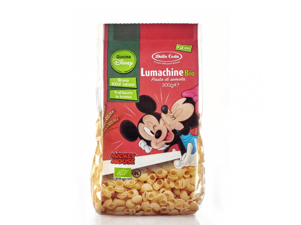 Dalla Costa BIO Těstoviny Disney Mickey Lumachine 300 g