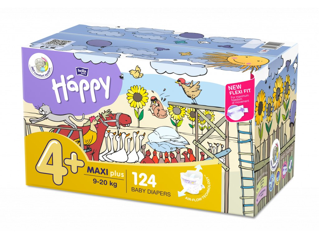 BELLA HAPPY Maxi Plus Big Pack 9-20 kg 124 ks