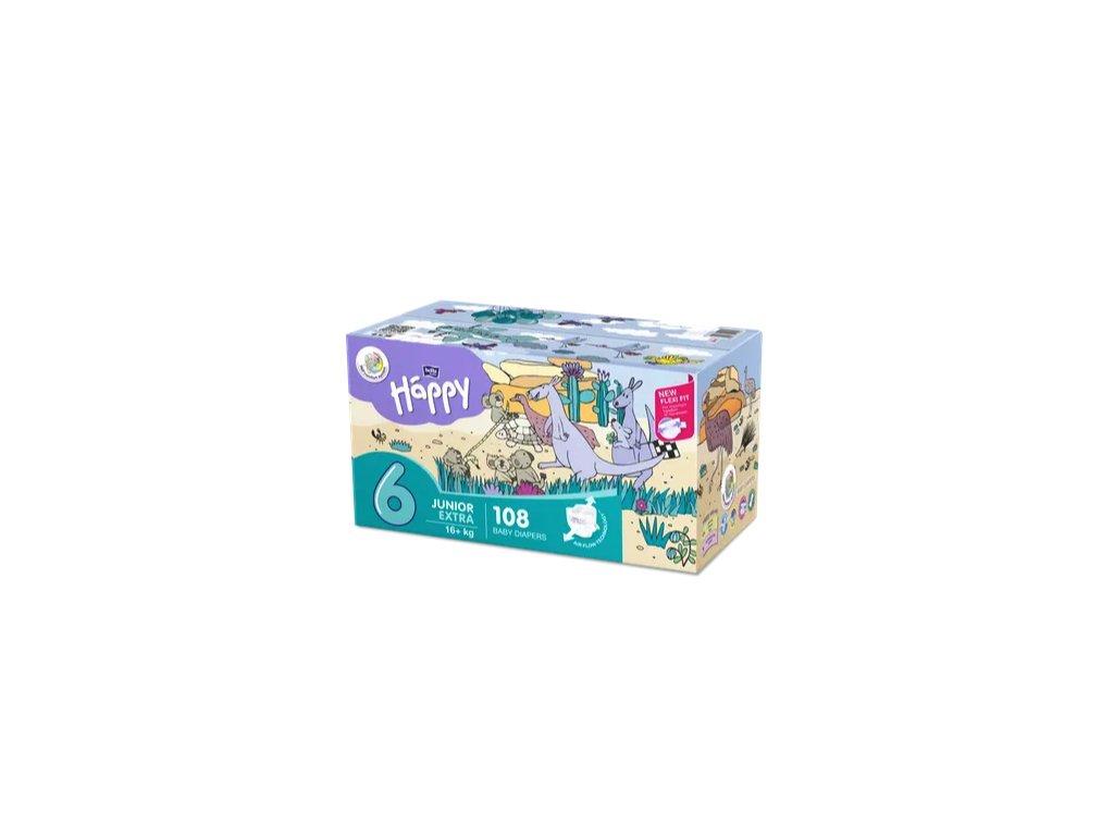 Bella Baby Happy Junior Extra 16+ kg dětské plenky box 108 ks