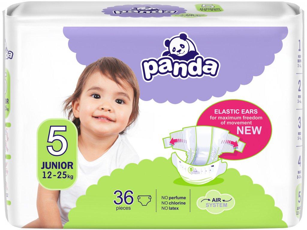 Plenky Panda junior 12-25 kg 36ks (vel.5)