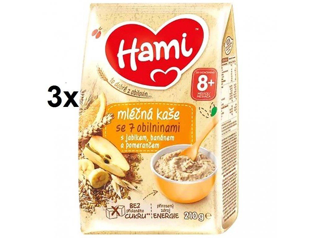 Hami ml.kaše se 7 oblinin. jablko banán pomer.3x210g