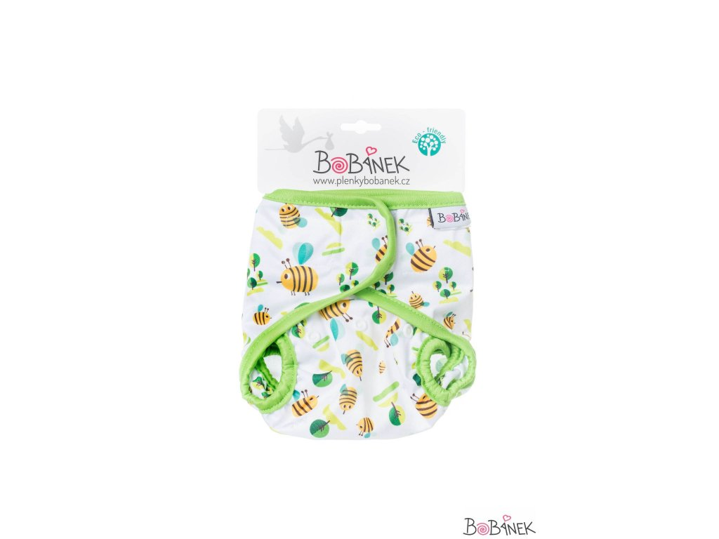 Bobánek Svrchní kalhotky suchý zip - Včelky
