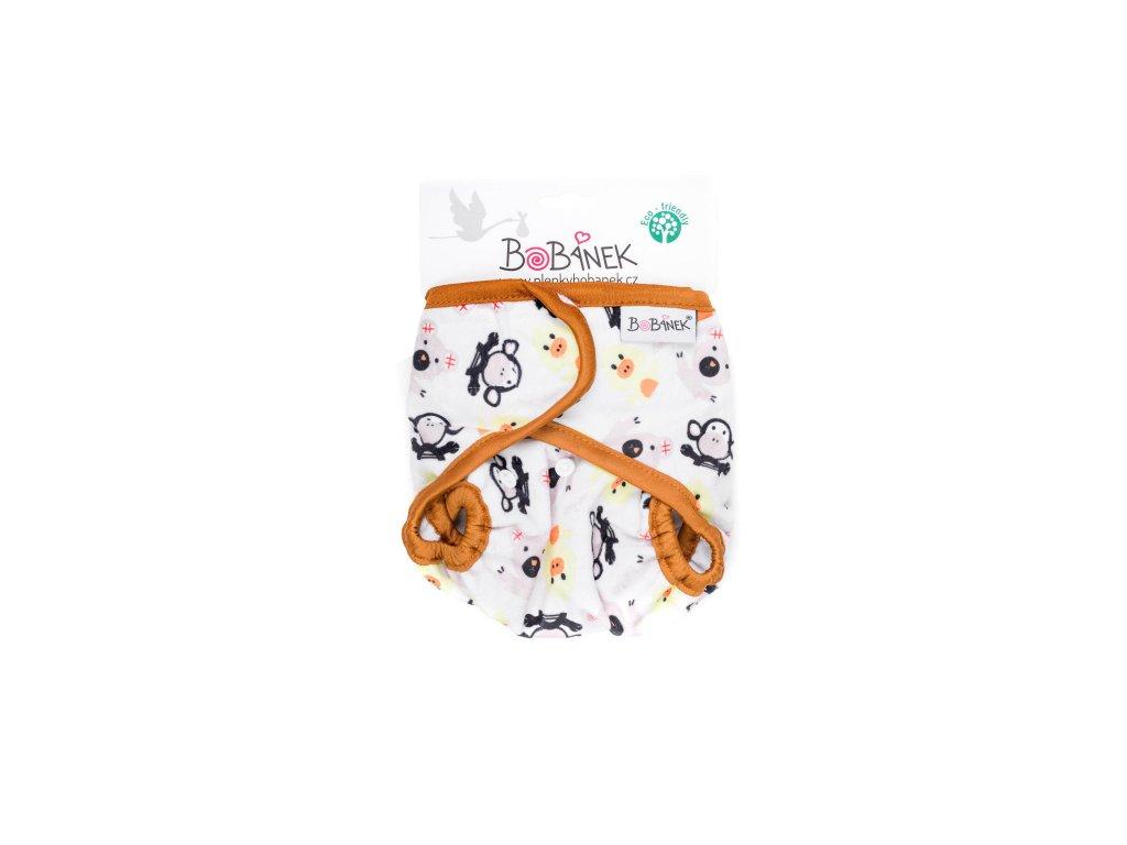 Bobánek Svrchní kalhotky extra jemné suchý zip - Zvířátka