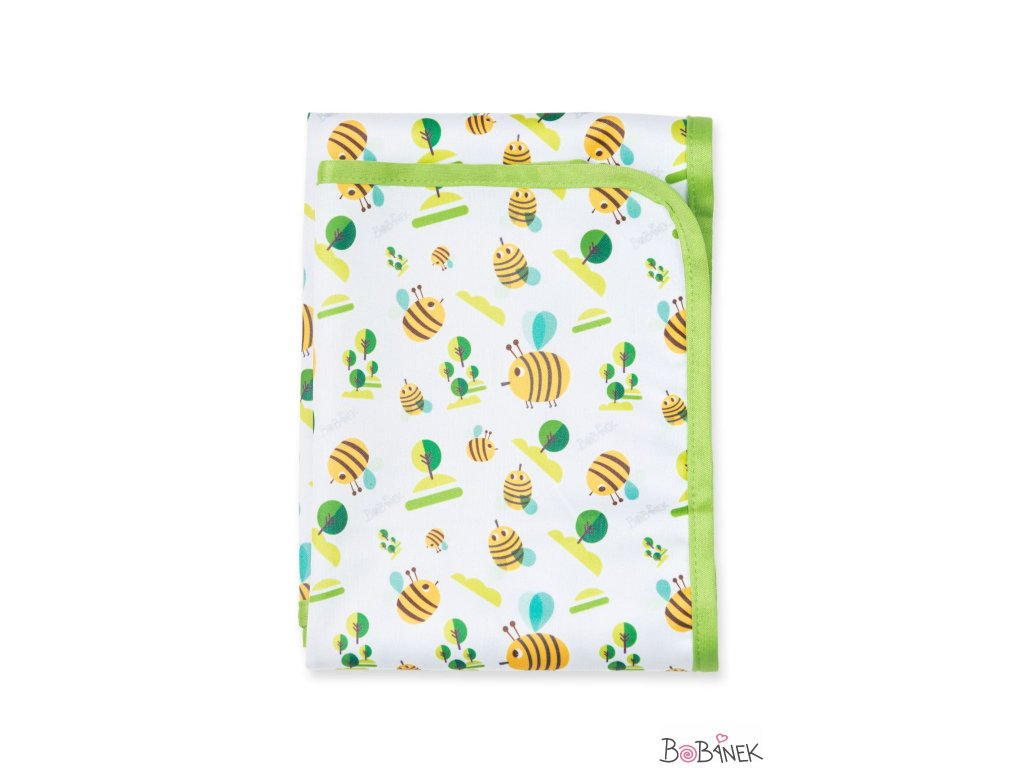 Bobánek Přebalovací podložka - Včelky 75x75cm