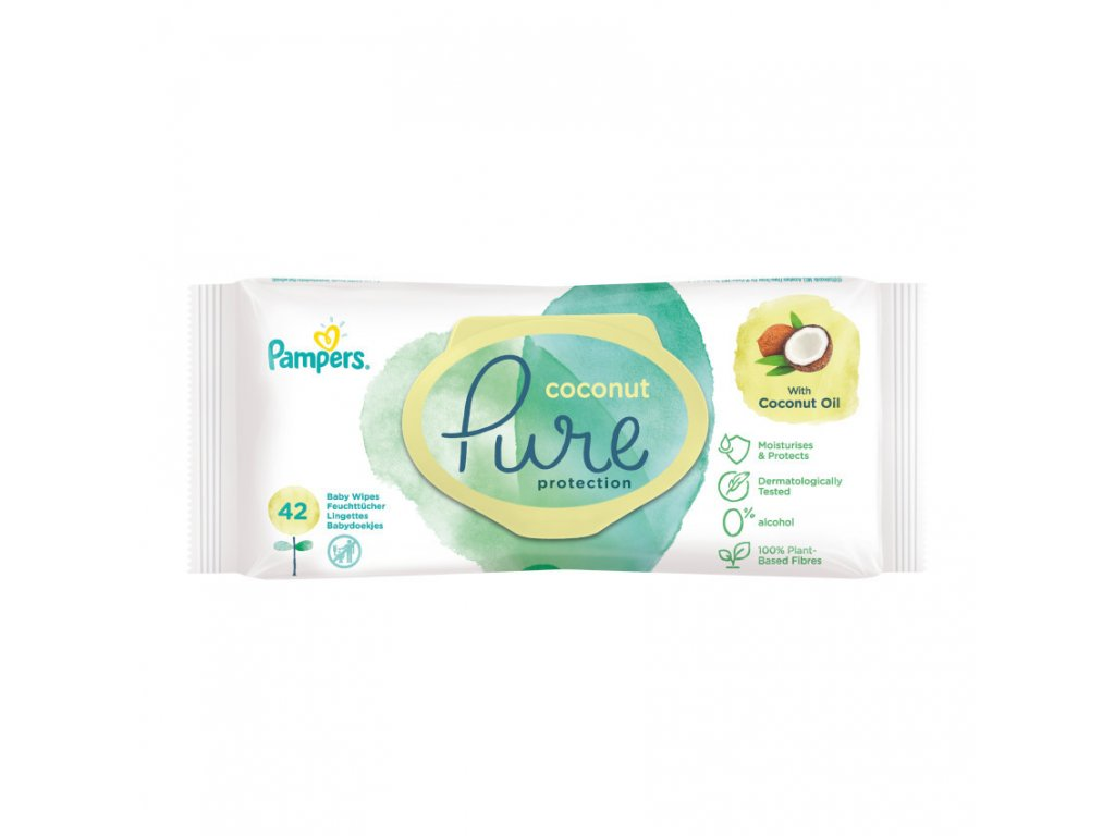 Pampers ubrousky Pure Coconut 42ks