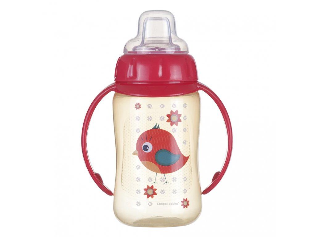 canpol babies treninkovy hrnicek s uchyty cute animals 320 ml ptacek 2179503 1000x1000 fit