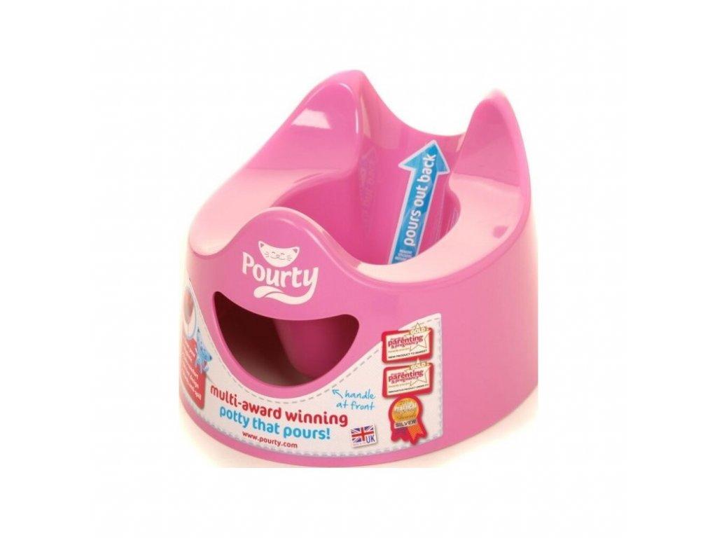 POURTY Nočník snadno vylévatelný Pink