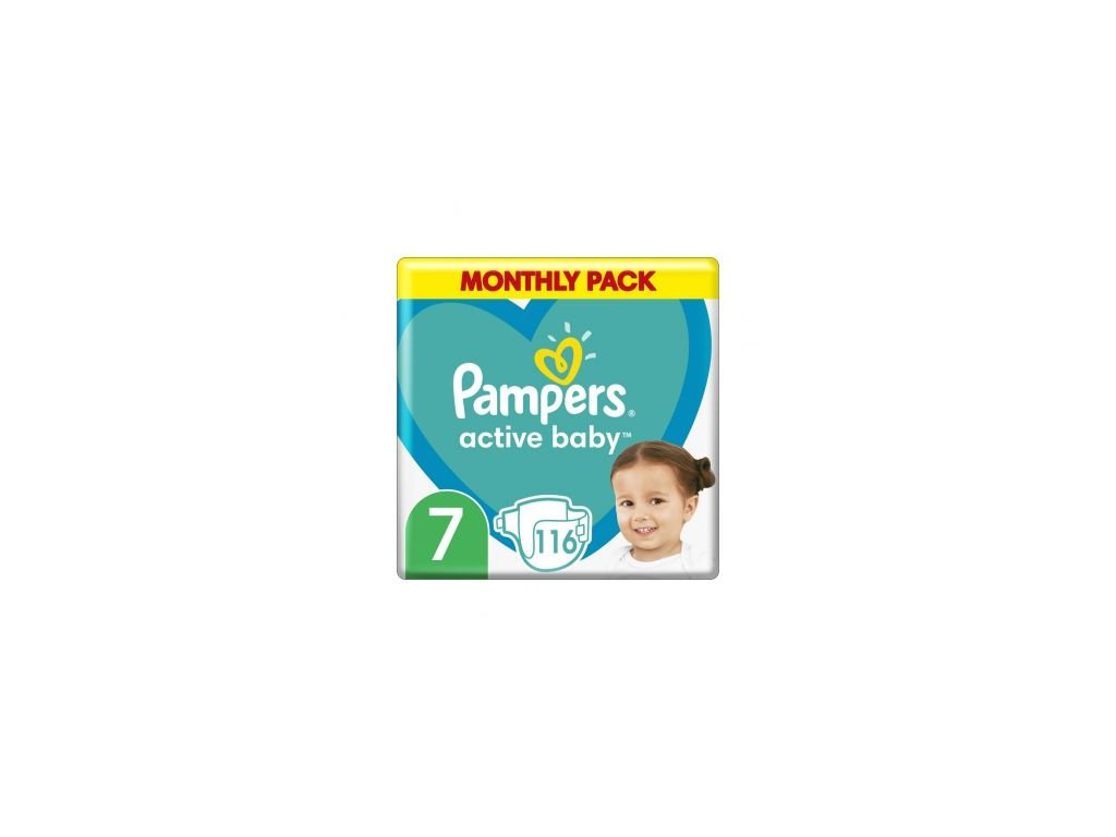 Pampers pleny Active baby monthly S7 15+ 116ks