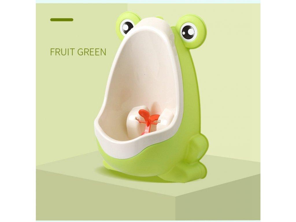 Dětský pisoár žába sv. zelený